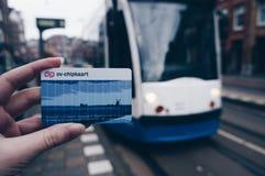 Öffentliche Transportmittel Amstercam's Stockbild