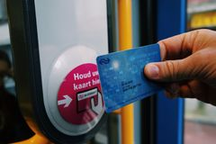 Öffentliche Transportmittel Amsterdam's Stockbilder