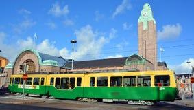 Öffentliche Transportmittel Helsinki-Förderwagen lizenzfreie stockbilder