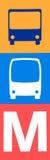 Öffentliche Transportmittel in Helsinki-Zeichen stockbilder