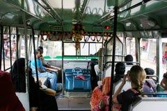 Öffentliche Transportmittel in Kerala Stockbild