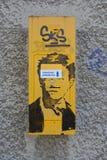 Öffentliche Transportmittel-Validator in Kladno - Straßen-Kunst, Tschechische Republik, Europa lizenzfreies stockbild