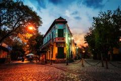 Öffentlicher Platz im La Boca, Buenos Aires, Argentinien Genommen während lizenzfreie stockfotos