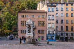 Öffentlicher Platz in Lyon Lizenzfreie Stockbilder