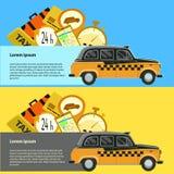 öffentlicher Taxidienst, Taxiauto Abbildung Lizenzfreie Stockbilder