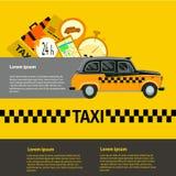 öffentlicher Taxidienst, Taxiauto Abbildung Lizenzfreie Stockfotos