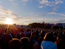Öffentlichkeit an einem Konzert Lizenzfreies Stockfoto