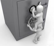 Öffnen des Safes lizenzfreie abbildung