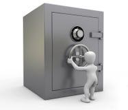 Öffnen des Safes Lizenzfreie Stockbilder