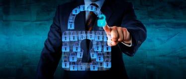 Öffnen eines virtuellen Verschluss-Teils einer Sicherheits-APP