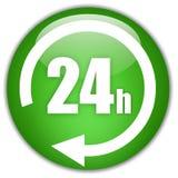 Öffnen Sie 24 Stunden lizenzfreie abbildung