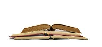 Öffnen Sie alte Bücher Stockfotos
