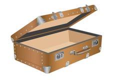 Öffnen Sie alten Koffer Lizenzfreie Stockfotografie
