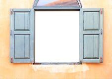 Öffnen Sie altes Fenster auf Backsteinmauer Lizenzfreies Stockbild