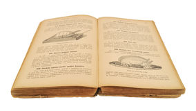 Öffnen Sie altes Kochbuch Lizenzfreie Stockfotografie
