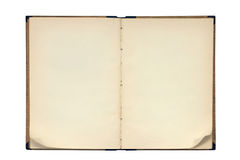 Öffnen Sie altes unbelegtes Buch Stockfotos