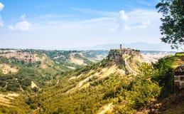 Öffnen Sie Ansicht von Civita di Bagnoreggio Stockfoto