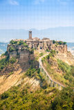Öffnen Sie Ansicht von Civita di Bagnoreggio, Italien Stockfotografie