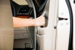 Öffnen Sie Autotür Lizenzfreies Stockfoto