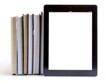 Öffnen Sie Bücher auf Tablette-PC-Konzept Lizenzfreies Stockfoto