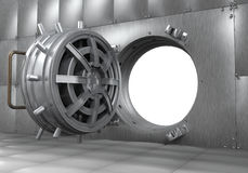 Öffnen Sie Banktresor-Tür Lizenzfreie Stockfotos