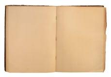 Öffnen Sie benutztes Buch Stockfoto