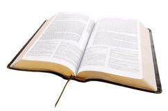 Öffnen Sie Bibel mit Ausschnittspfad Lizenzfreies Stockfoto