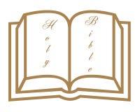 Öffnen Sie Bibelsymbol Stockfoto