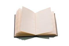 Öffnen Sie Buch über einem Weiß Lizenzfreies Stockbild