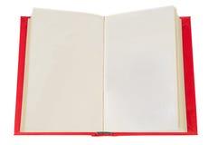 Öffnen Sie Buch mit Leerseiten Stockfotos