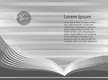 Öffnen Sie Buch Vektorabstrakter Hintergrund Lizenzfreies Stockfoto