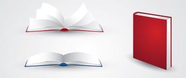 Öffnen Sie Buchabbildungen Lizenzfreie Stockfotografie