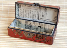 Öffnen Sie chinesischen Kasten Stockfoto