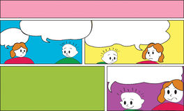 Öffnen Sie Comics-Schablone Stockbild