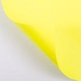 Öffnen Sie conner des gelben Papiers Stockbilder