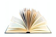 Öffnen Sie das Buch, das auf Weiß getrennt wird Stockfotografie