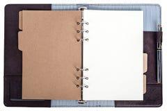 Öffnen Sie das lokalisierte Notizbuch Lizenzfreie Stockbilder