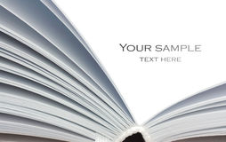 Öffnen Sie das Notizbuch, das auf Weiß getrennt wird Lizenzfreies Stockbild