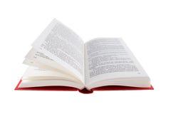 Öffnen Sie das rote Buch, das auf einem weißen Hintergrund getrennt wird Lizenzfreie Stockfotografie