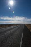 Öffnen Sie Datenbahn im Texas-Hügelland Stockbilder
