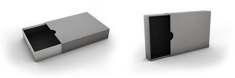 Öffnen Sie den Kasten, der auf einem weißen Hintergrund lokalisiert wird Lizenzfreies Stockbild