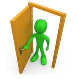 Öffnen Sie die Tür Stockfotos