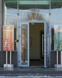Öffnen Sie die Tür der Bank stockfotografie