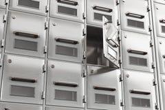 Öffnen Sie die Tür im Speicherkabinett Lizenzfreies Stockbild