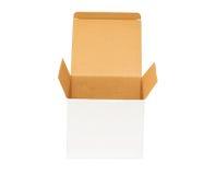 Öffnen Sie einen leeren Sammelpack Stockbilder