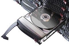Öffnen Sie Festplatte im heißen Tauschenrahmen stockfotos