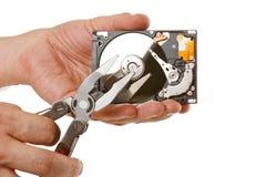 Öffnen Sie Festplattenlaufwerk in der Hand Stockfotografie