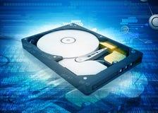 Öffnen Sie Festplattenlaufwerk des Computers Lizenzfreies Stockbild