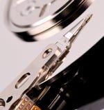 Öffnen Sie Festplattenlaufwerk des Computers auf weißem Hintergrund Lizenzfreies Stockfoto