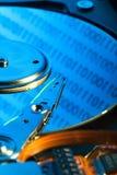 Öffnen Sie Festplattenlaufwerk im Blaulicht Lizenzfreies Stockfoto